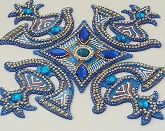 rangoli instrument diwali circle acrylic floor decor wall decor
