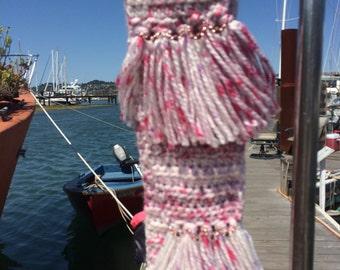 Pink & beige scarf