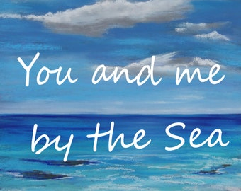 Fine Art Print - You and me by the Sea