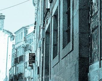 Santiago de Compostela, Fine art photography, Fine Art Prints, Spain, Decor, Under30, Blue Lane