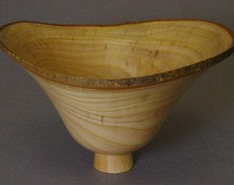 Deep Natural Edge Ogee Bowl in English Ash