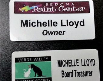 Name Tag with Magnetic backing