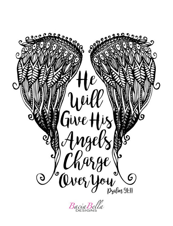 coloring pages of angels wings - photo#28
