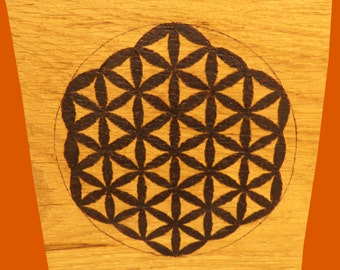 Pyrography ~ Flower of Life/Crystal Grid