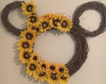 Sunflower mickey wreath