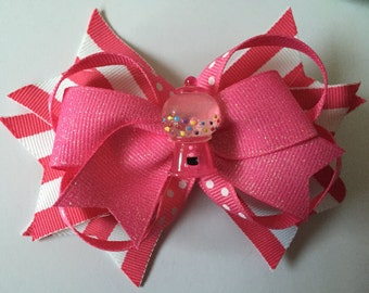 Pink Gumball Hair Bow