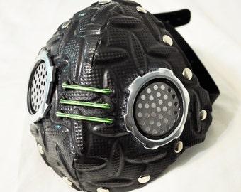 Black/Steel Half Mask