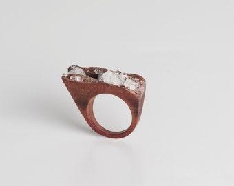 Crystal Wood Ring