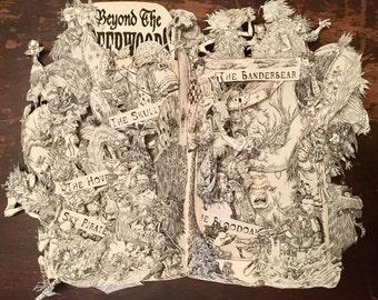 Beyond the Deepwoods - Book Sculpture