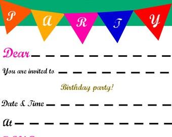 Bee-u-ti-ful birthday invitation