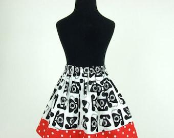 Girls 1950s Telephone Skirt