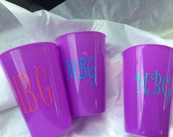 Monogramed Plastic Cups