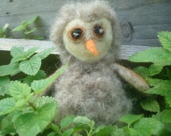 Needle Felted Baby Owl  Waldorf Inspired