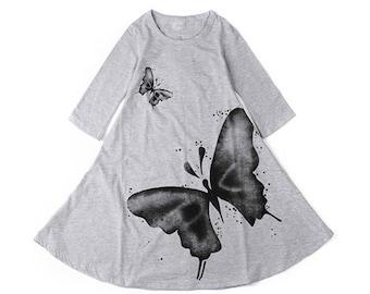 Butterfly Dress (Grey)