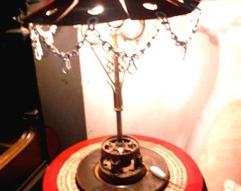 "Sculpture metal ""lamp art deco style"""