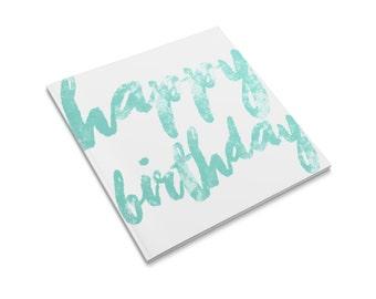 Happy Birthday Blue Greeting Card