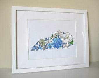 Kentucky in Bloom Hand-Colored 8x10 print (unframed)