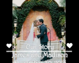 Wedding Photos and Videos Professional Collage/Montage WITH MUSIC