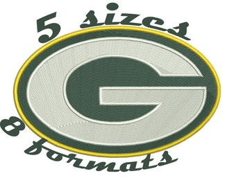 Green Bay Packers Inspired Machine Embroidery Designs in 8 formats and 5 sizes