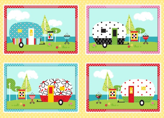 Camper Panel- Quilt Camp Collection