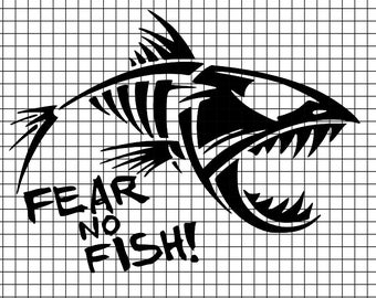 Fear No Fish SVG/DXF/download for Cricut and Silhouette