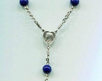 Navy blue acrylic beads chaplet