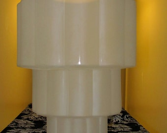 vintage art deco stacked rolls stacked rolls frosted tiered glass ceiling shade fixture