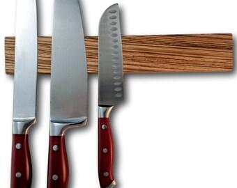 Zebrawood Wood Magnetic Knife Holder 12 inch Knootz Knife Strip