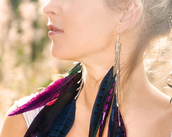 Sunrise Feather Earrings