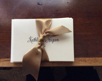 A set of 10 personalized notecards with envelopes.