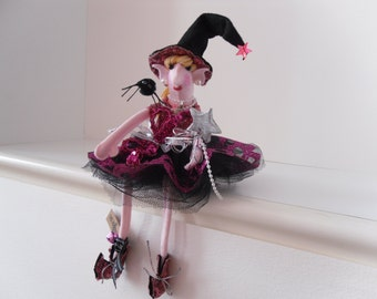 pink witch doll
