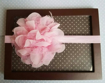 Light pink Newborn flower headband