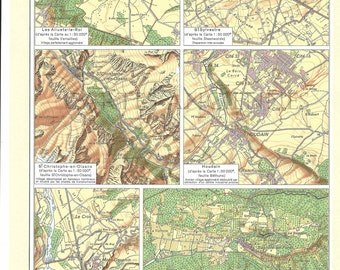Old map of the villages of France (1962) - original vintage of the villages of France dating from 1962 map (21cm x 29, 7cm)-sold box