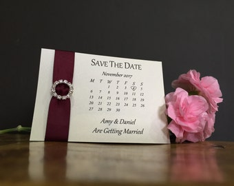 Magnetic Ribbon Save the Date Calender