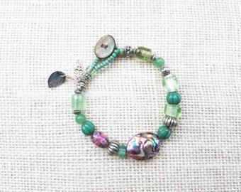 Abalone and Gemstone Bracelet