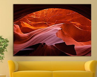 Antelope Canyon print Antelope Canyon wall art Antelope Canyon canvas Wall Art Large Canvas Print Decor