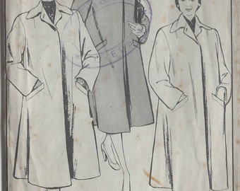 "1940s Vintage Sewing Pattern B32"" COAT (53) Style 249"