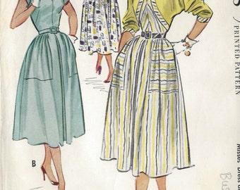 "1953 Vintage Sewing Pattern B34"" DRESS & BOLERO (R1)   McCall's 9440"