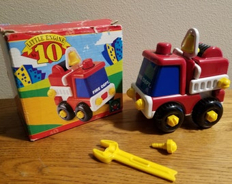 1993 Discovery Toys Little Engine No 10 Developmental Toy Fire Engine 2770