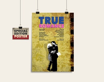 True Romance, Movie art, Film print, Wall art print, Instant download, Digital download, Wall decor, Alternative poster, Movie poster