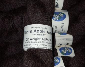 ALPACA Yarn - DK Weight - Natural Brown