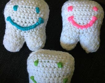 Crochet Tooth Fairy Pillow, tooth pillow, fairy pillow, tooth keepsake
