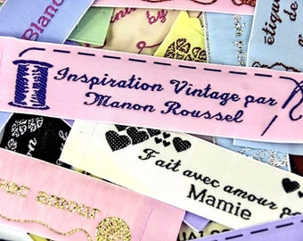 Wide Woven Sewing Labels 1 inch( 23 mm),knitting labels,sewing labels,blanket labels, hobby labels, craft labels, haberdashery labels,quilt