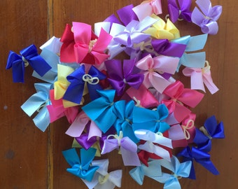 Dog Grooming Bows MINI - multi colored