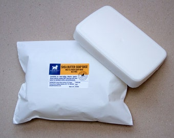 White, Shea Butter, Goats Milk, Opaque Melt and Pour, Glycerin Soap Base, SLS FREE 1kg