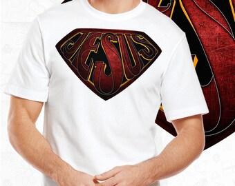 Template T-Shirt Jesus Logo - Superman