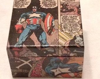 CUSTOM Decoupage Comic Book Trinket Box
