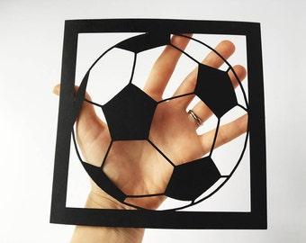 Football Art / Soccer Gift / Print for Boys / Nursery Art / Sports Present / Birthday Idea / Kids Gift / Children Decor / Footie /  UNFRAMED