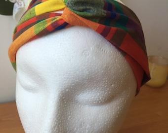 Headband style turban in Madras