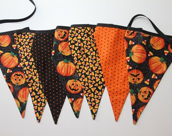 """Handcrafted Halloween Hanging Banner - """"Candy Corn"""""""